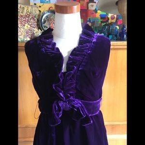 VNTG 60s 70s Velvet Pantsuit Nation Great Costume!